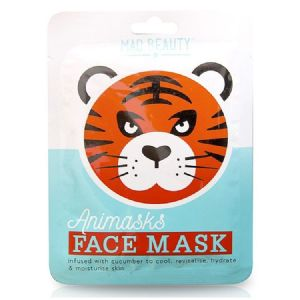 Tiger Cucumber Animals Fun Face Mask 25ml Animasks - Mad Beauty